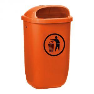 T102052 Gettacarte polietilene arancione 50 litri da esterno