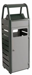 T103010 Grey steel Ashbin for outdoor areas 25+4 liters