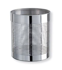 T103036 Perforated Polished stainless steel Paper Bin 11 liters