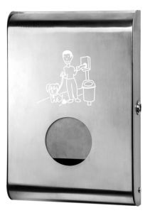 T103070 Brushed stainless steel Dog waste bags dispensers
