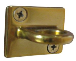 T103311 Golden s.steel wall mounted ring for ropes of post barrier