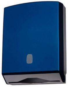 T104320 Distributore di carta asciugamani ABS blu soft-touch 400 fogli