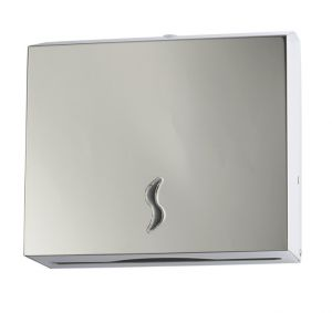 T105013 Distributore di carta asciugamani acciaio inox AISI 304 satinato 200 fogli
