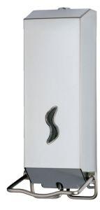 T105039 Distributore di sapone liquido acciaio inox AISI 304 satinato a gomito 1,2 litri