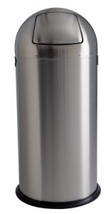 T106032 Brushed stainless steel Push bin 52 liters