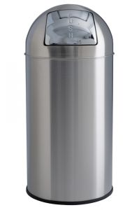 T106051 Brushed stainless steel Push bin 40 liters