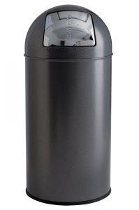 T106052 Gettacarte push metallo silver punteggiato 40 litri