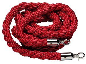 T106321 Cordone rosso bordeaux gancio cromato per sistema divisorio 1,5 metri