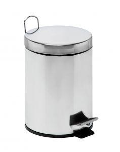 T106405 Pattumiera acciaio inox secchio galvanizzato pedale 5 litri (confezione da 4 pezzi)