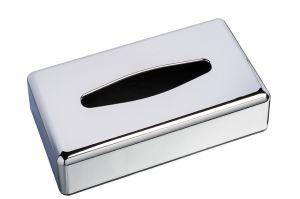 T130003 Distributore di fazzoletti ABS cromato rettangolare mini
