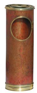 T700101 Portacenere-gettacarte in rame con bordo in ottone 16 litri