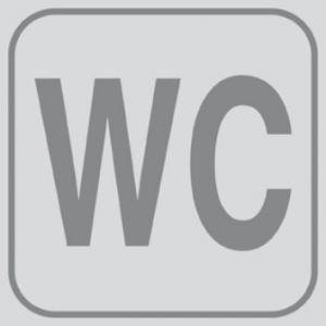 T701023 Targhetta PVC adesiva BAGNO WC (multipli 5 pz)