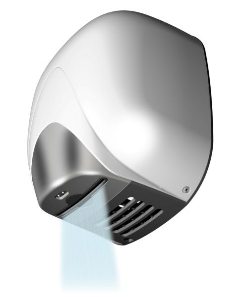 T704335 White aluminium High performance automatic hand dryer with heating element