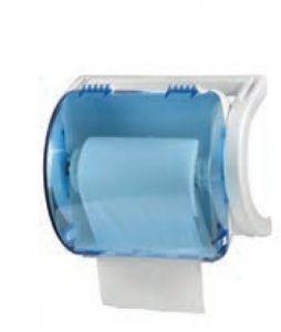 T705636 Distributore di carta in bobina ABS bianco-blu trasparente