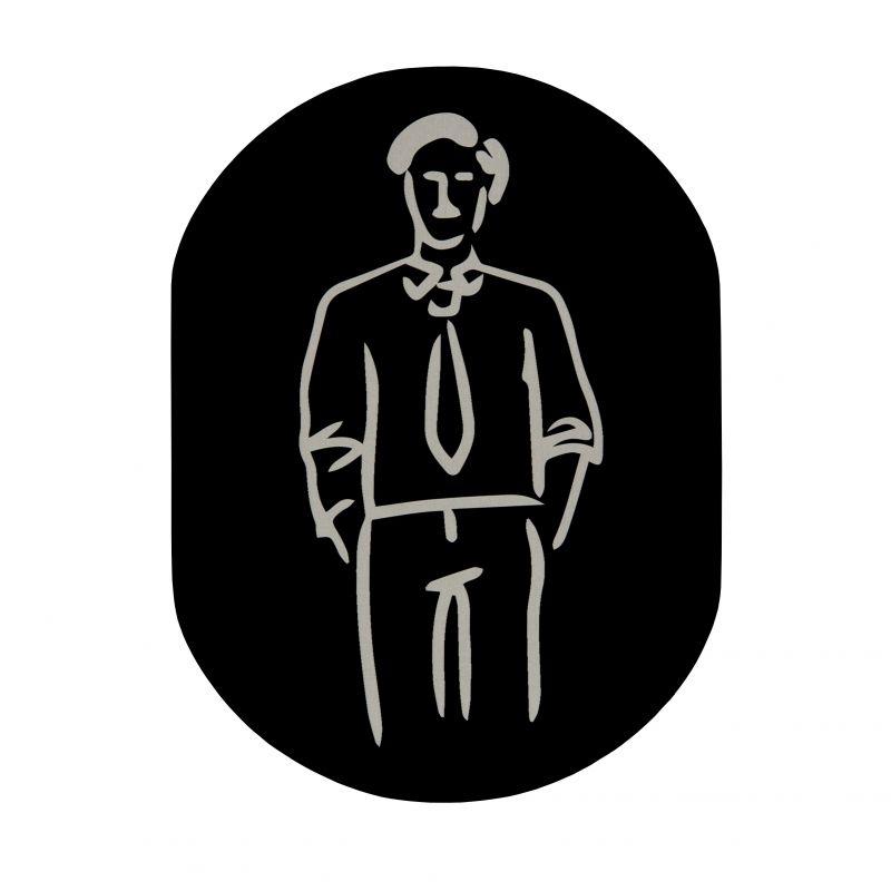 Targhetta pittogramma porta bagno uomo