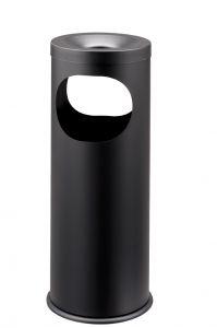 T775021 Portacenere-gettacarte metallo nero 2 aperture 19 litri