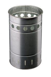 T778030 Gettacarte cilindrico in acciaio zincato da esterno 35 litri