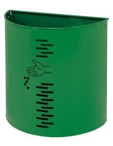 T778052 Gettacarte semicircolare in acciaio verde per esterno 20 litri