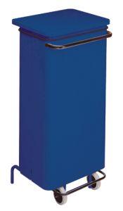 T791225 Contenitore mobile metallo blu con pedale 110 litri