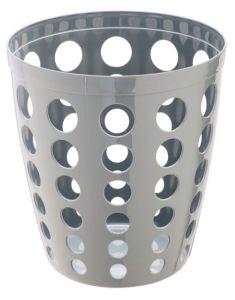 T906402 Grey Plastic paper bin 12 liters