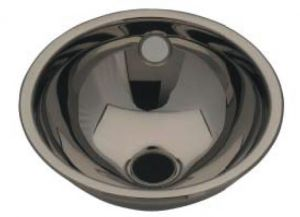 LX1080 Stainless steel spherical washbasin central drain 420X455X160 mm - LUCIDO -