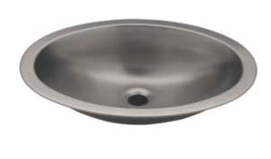 LX1280 Lavabo ovale in acciaio inox 510x390x155 mm - LUCIDO -