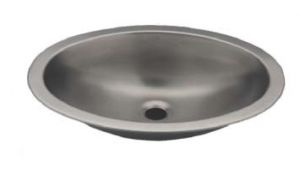 LX1320 Oval basin in stainless steel 380X280X125 mm - SATIN -
