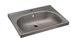 LX1380 Rectangular washbasin for stainless steel shelves 610x463X150 mm -SATINATO-