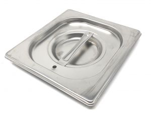 CPR1/6T Coperchio 1/6 in acciaio inox AISI 304 con guarnizione a tenuta