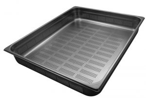 GST2/1P100F Contenitore Gastronorm 2/1 h100 forato in acciaio inox AISI 304