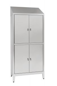 IN-694.06.430 Aisi 430 4-seater Multi-locker Wardrobe with Partition Cm. 95X40X215H