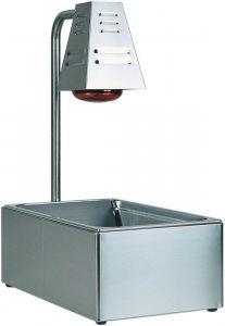 BI4719 Contenitore Gastronorm GN acciaio inox con lampada infrarossi 60x33x68h