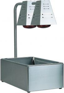BI4719D Contenitore acciaio inox GN con 2 lampade infrarossi 60x33x68h