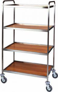 CA 1070 Multiservice steel service trolley 4 shelves 83x57x172h