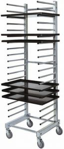 CA1480  Stainless steel tray rack trolley for bakeries 20 trays
