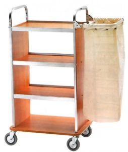 CA1505 Laundry cleaning multipurpose cart with folding sack-holder
