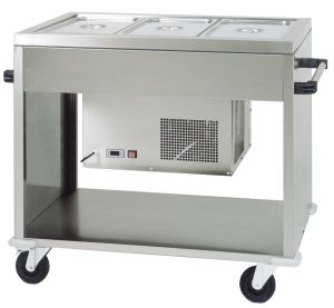 CAR2779 Carrello refrigerato in acciaio inox (+2°+10°C) 3 GN1/1 124x72x94h