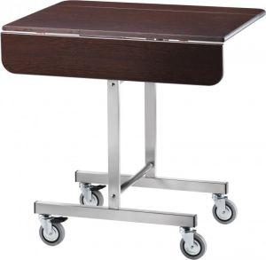 CB970W Breakfast cart on wheels rectangular Wengé