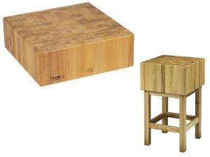 CCL1755 Ceppo legno 17cm con sgabello 50x50x90h