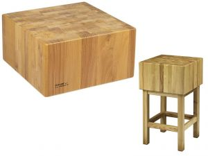 CCL2555 Ceppo legno 25cm con sgabello 50x50x90h