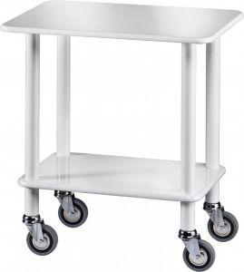 CL 903B Gueridon Cart White polish varnished 70x50x78h
