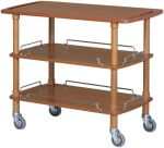 TCLP 2003 Carrello servizio legno noce 3 piani 110x55x89h