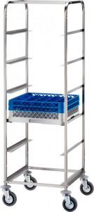 CP1442 Stainless steel dishwasher tray trolley