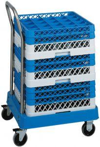 CP1447 Carrello portacestelli per lavastoviglie con manico inox base ABS