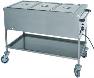 CTS1761 Thermal trolley with dry heating element 3x1/1 GN 117x65x85h