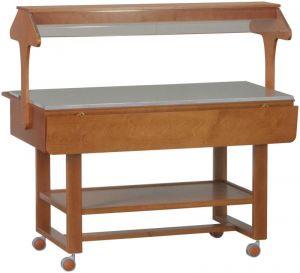 ELN2835W Neutral Wengé wooden display case buffet