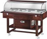TELR 2826BTW Carrello legno refrigerato (-5+5°C) 4x1/1GN cupola/pianetto Wengé