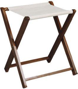 RE4018 Reggivaligie in legno faggio telo cotone senza sponda