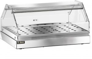 VBN 4751 Vetrinetta neutra acciaio inox 1 piano 50x35x22h