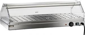 VBR4781 Vetrinetta riscaldata acciaio inox 1 piano 85x35x25h
